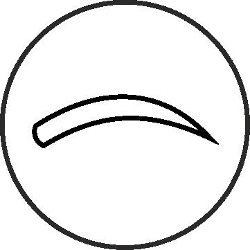 круглая форма бровей