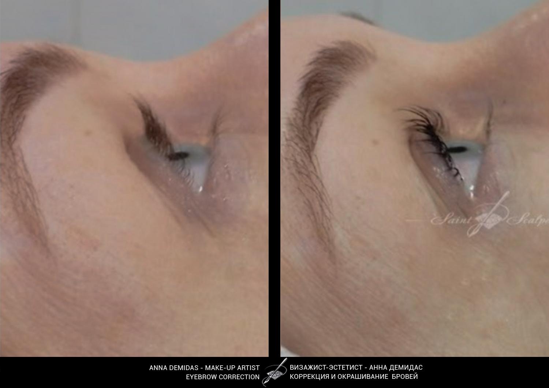 Открытый взгляд с помощью ламинирования ресниц