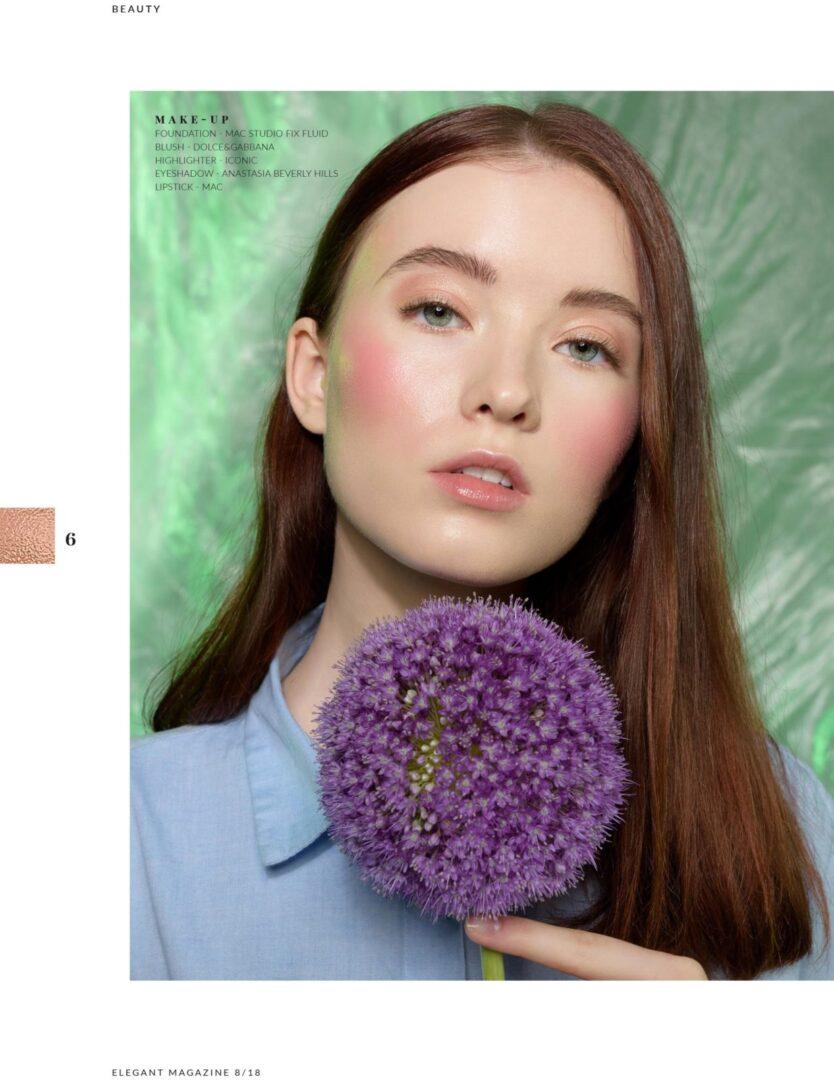 Публикация в журнале Elegantmag Печатное издание Beauty #1 (August 2018) фотосессии с макаяжем от нашего визажиста-эстестиста Анны Демидас