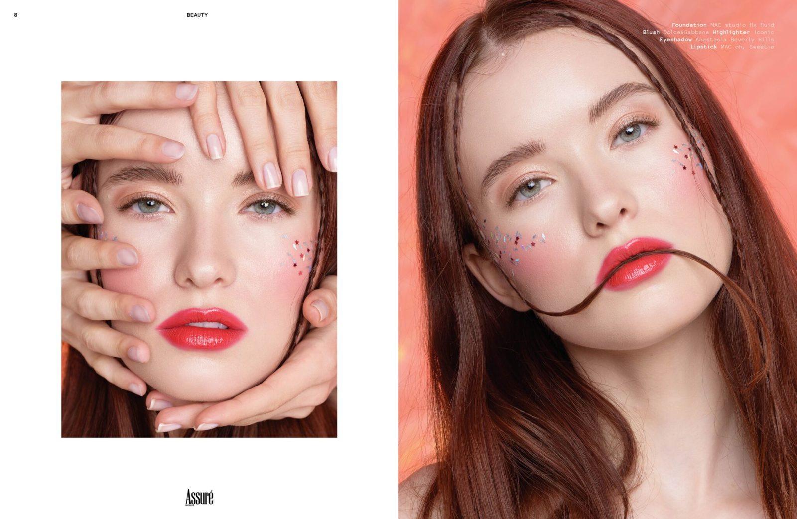 Публикация в печатном выпуске сентябрьского номера нью-йоркского журнала Assuré работы визажиста Анны Демидас